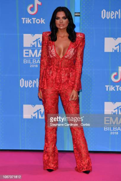 Abbie Holborn attends the MTV EMAs 2018 on November 4 2018 in Bilbao Spain