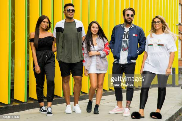 Abbie Holborn Nathan Henry Marnie Simpson Aaron Chalmers and Chloe Ferry attend the Geordie Shore series 15 premiere photocall at MTV London on...