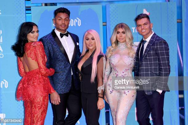 Abbie Holborn Nathan Henry Sophie Kasaei Chloe Ferry and Sam Gowland attend the MTV EMAs 2018 on November 4 2018 in Bilbao Spain