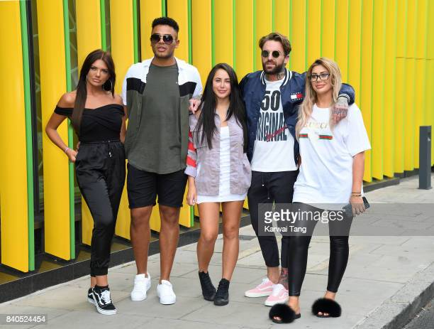 Abbie Holborn Nathan Hnery Marnie Simpson Aaron Chalmers and Chloe Ferry attend the Geordie Shore Land of Hope and Geordie series 15 Launch at the...