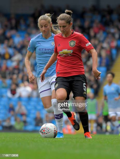Abbie McManus during English FA Women's Super League match between Manchester City and Manchester United at City of Manchester Stadium Manchester...