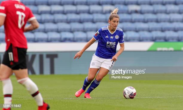 Abbie McManus of Leicester City Women during the Barclays FA Women's Super League match between Leicester City Women and Manchester United Women at...