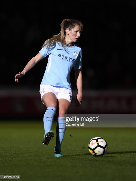 Abbie McManus of Manchester City Ladies during the WSL Continental Cup Final between Arsenal Women and Manchester City Ladies at Adams Park on March...