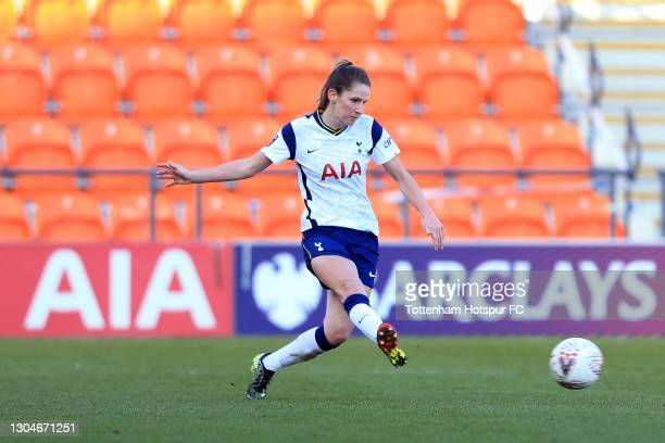 Abbie McManus of Tottenham Hotspur during the Barclays FA Women's Super League match between Tottenham Hotspur Women and Everton Women at The Hive on...