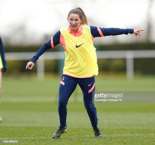Abbie McManus of Tottenham Hotspur Women during the Tottenham Hotspur Women training session at Tottenham Hotspur Training Centre on March 05, 2021...