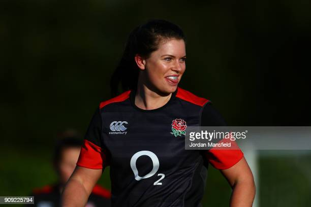 Abbie Scott of England during England Women's Training at Bisham Abbey on January 23 2018 in Marlow England