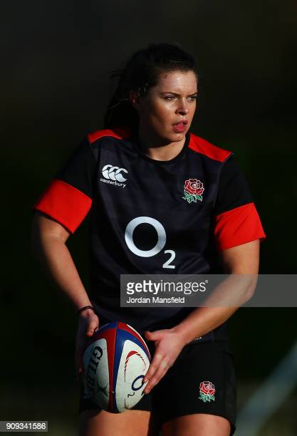Abbie Scott of England in action during England Women's Training at Bisham Abbey on January 23 2018 in Marlow England