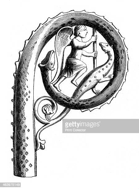 Abbot's crozier 13th century A wood engraving of an enamelled crozier made in Limoges France Illustration from The Arts of the Middle Ages and at the...