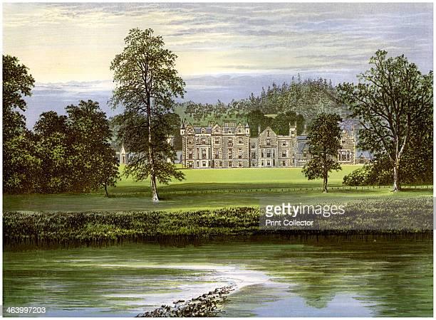 Abbotsford, Roxburghshire, Scotland, home of the Scott family, c1880. Abbotsford was the home of the Scottish novelist and poet Sir Walter Scott. He...