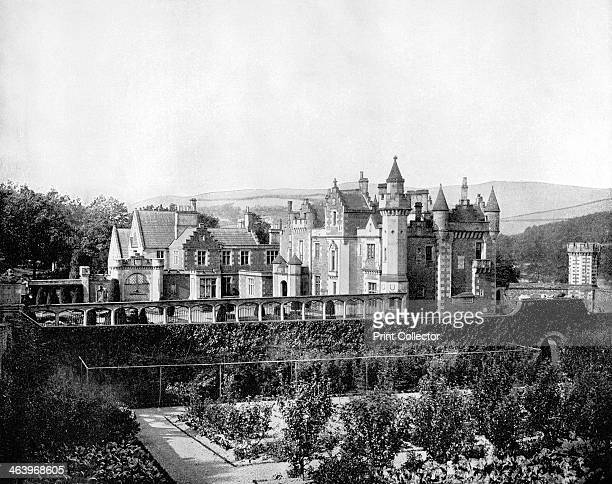 Abbotsford Scotland 1893 The home of Sir Walter Scott near Melrose View showing the walled fruit and vegetable garden Walter Scott is widely...