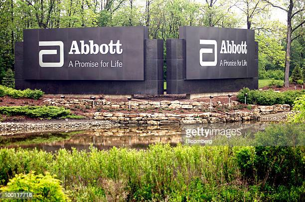 Abbott Laboratories signage stands on the campus of its headquarters in Abbott Park Illinois US on Friday May 21 2010 Abbott Laboratories will buy...
