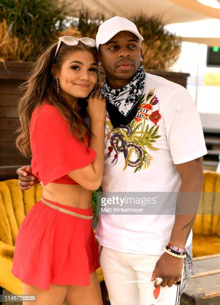 Abby Anderson and Jimmie Allen pose for a portrait during the 2019 Stagecoach Festival at Empire Polo Field on April 28 2019 in Indio California