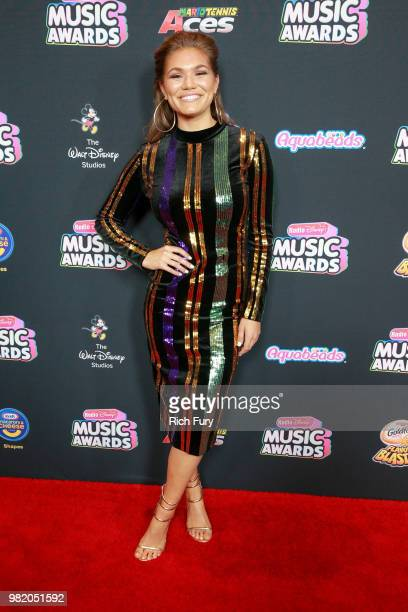 Abby Anderson attends the 2018 Radio Disney Music Awards at Loews Hollywood Hotel on June 22 2018 in Hollywood California
