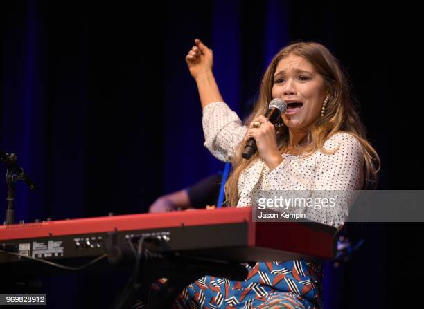 Abby Anderson performs at CMA Theater on June 8 2018 in Nashville Tennessee