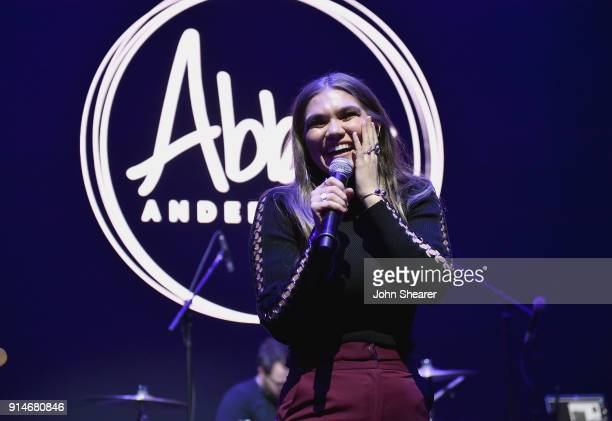 Abby Anderson performs onstage during the 2018 Black River Entertainment CRS show featuring Jacob Davis Abby Anderson Kelsea Ballerini and special...