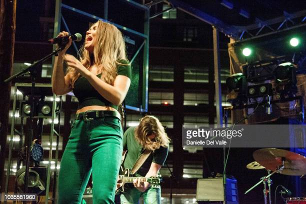 Abby Anderson performs onstage during Whiskey Jam Series '18 Outdoor Concert at Losers Bar Grille on September 17 2018 in Nashville Tennessee