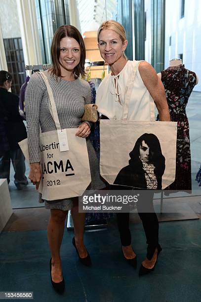Abby Bangser and Crystal Lourd attend the Director's Circle Celebration of WEAR LACMA Inaugural Designs by Johnson Hartig For Libertine And Gregory...
