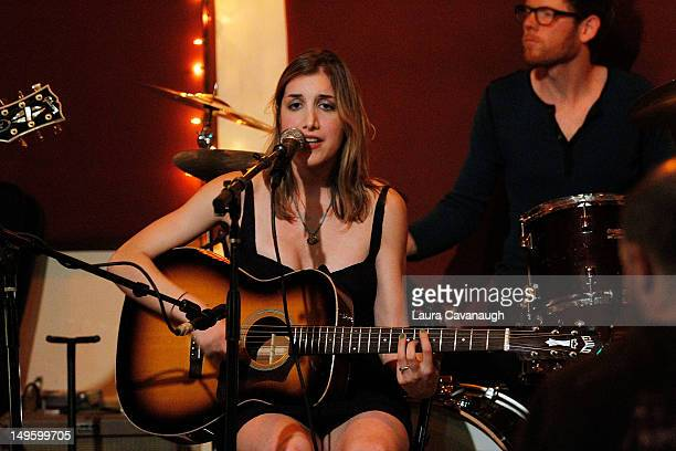 Abby Bernstein performs at her album release party and special performance at The Living Room on July 31 2012 in New York City