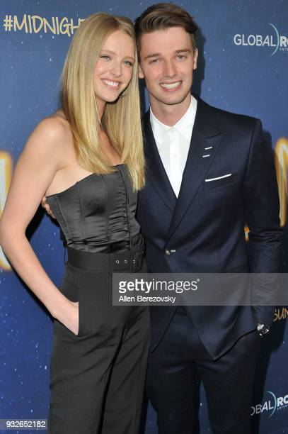 Abby Champion and Patrick Schwarzenegger attend the Global Road Entertainment's World Premiere of Midnight Sun at ArcLight Hollywood on March 15 2018...