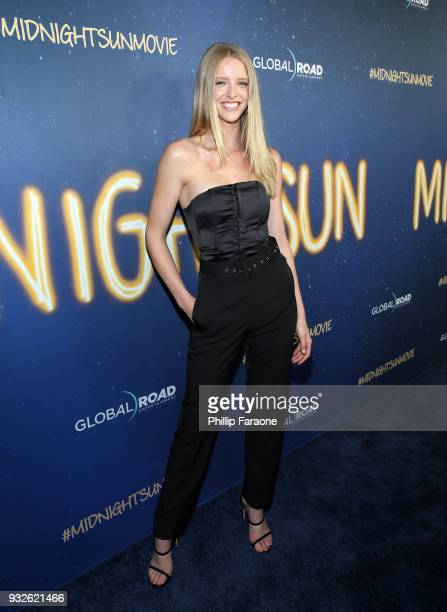 Abby Champion attends Global Road Entertainment's world premiere of Midnight Sun at ArcLight Hollywood on March 15 2018 in Hollywood California