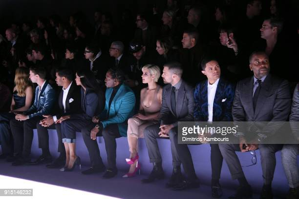 Abby Champion Patrick Schwarzenegger Russell Wilson Ciara Pusha T Halsey Sebastian Stan Trevor Noah and Lee Daniels attend the Tom Ford Fall/Winter...