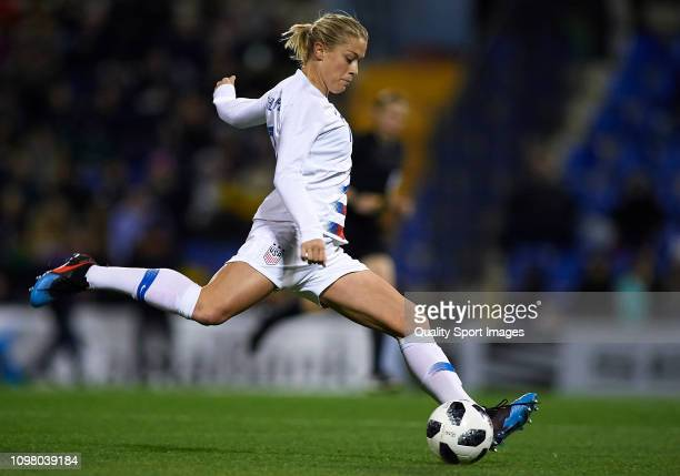 Abby Dahlkemper of The United States in action during the Women's International Friendly match between Spain and The United States at Estadio Jose...