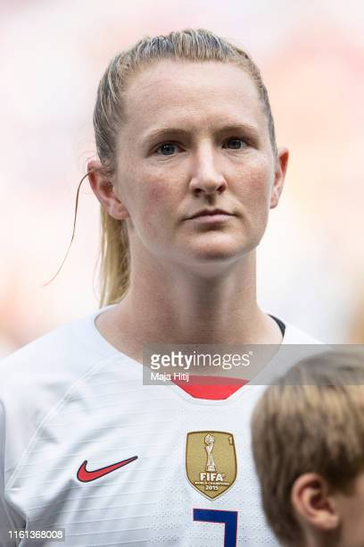 Abby Dahlkemper of the USA looks on prior to the 2019 FIFA Women's World Cup France Final match between The United States of America and The...
