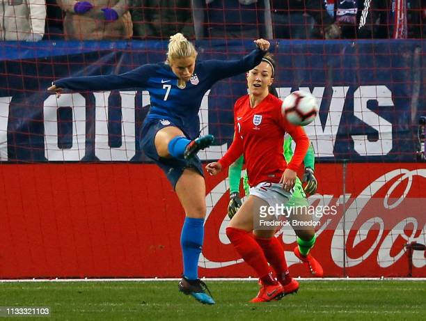 Abby Dahlkemper of the USA plays in the 2019 SheBelieves Cup match between USA and England at Nissan Stadium on March 2 2019 in Nashville Tennessee