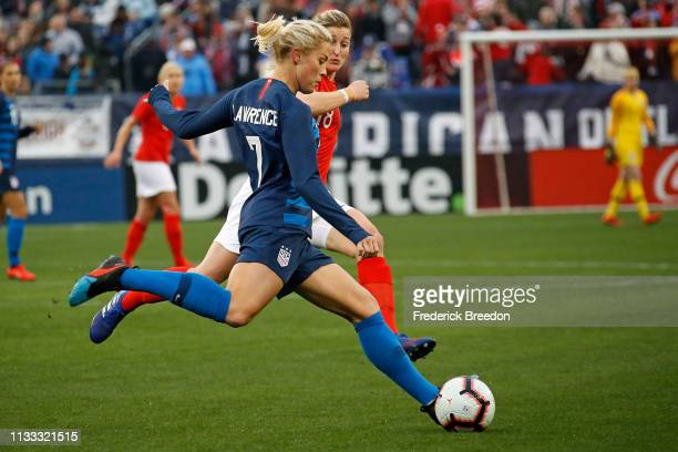 Abby Dahlkemper of the USA plays in the 2019 SheBelieves Cup match between USA and England at Nissan Stadium on March 2 2019 in Nashville Tennessee...