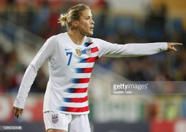 Abby Dahlkemper of United States of America during the International Friendly match between Portugal and United States of America at Estadio Antonio...