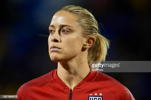 Abby Dahlkemper of USA during the friendly match between Spain and USA at Rico Perez Stadium in Alicante Spain on January 22 2019