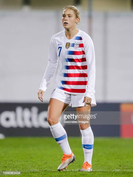 Abby Dahlkemper of USA Women during the International Friendly Women match between Portugal v USA at the Estadio Antonio Coimbra da Mota on November...