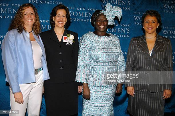 Abby Disney Barbara Wynne Dr Wangari Maathai and Shelia Johnson attend The New York Women's Foundation 2005 'Celebrating Women' Breakfast at New York...