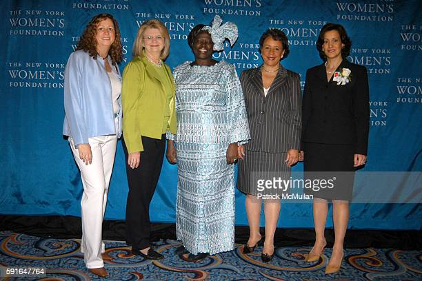 Abby Disney Geraldine Laybourne Dr Wangari Maathai Shelia Johnson and Barbara Wynne attend The New York Women's Foundation 2005 'Celebrating Women'...