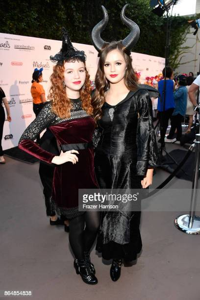 Abby Donnelly and Olivia Sanabia at the Dream Halloween 2017 Costume Party Benefitting Starlight Children's Foundation presented by Michaels and...