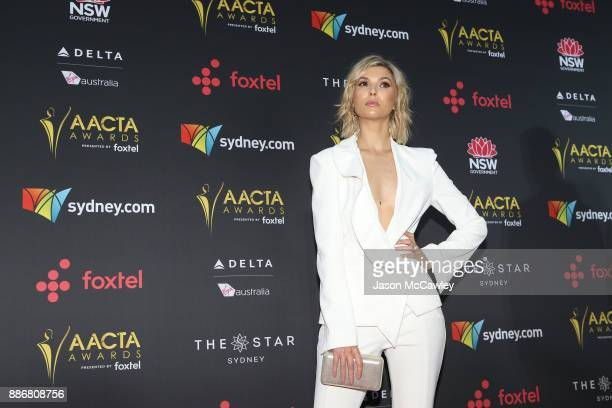 Abby Earl attends the 7th AACTA Awards Presented by Foxtel | Ceremony at The Star on December 6 2017 in Sydney Australia