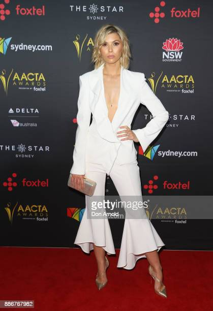 Abby Earl poses during the 7th AACTA Awards at The Star on December 6 2017 in Sydney Australia