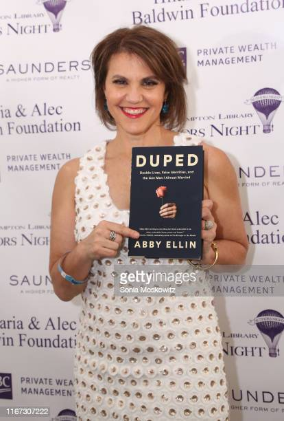 Abby Ellin at the East Hampton Library's 15th Annual Authors Night Benefit on August 10 2019 in Amagansett New York
