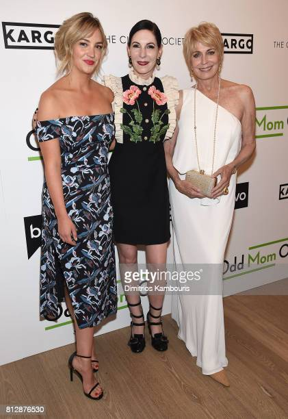Abby Elliot Jill Kargman and Joanna Cassidy attend The Cinema Society Hosts The Season 3 Premiere Of Bravo's Odd Mom Out at the Whitby Hotel on July...
