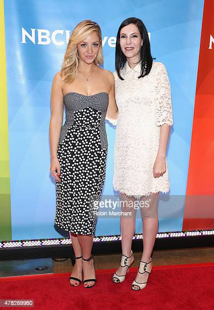 Abby Elliott and Jill Kargman attend the NBC's 2015 New York Summer Press Day at Four Seasons Hotel New York on June 24 2015 in New York City