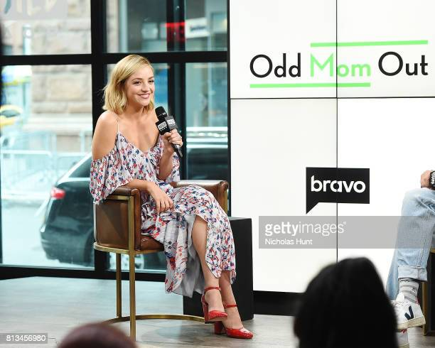 Abby Elliott attends Build to Discuss The Show 'Odd Mom Out' at Build Studio on July 12 2017 in New York City