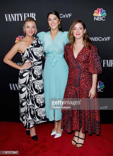 Abby Elliott D'Arcy Carden and Jessy Hodges attend NBC and Vanity Fair's celebration of the season at The Henry on November 11 2019 in Los Angeles...