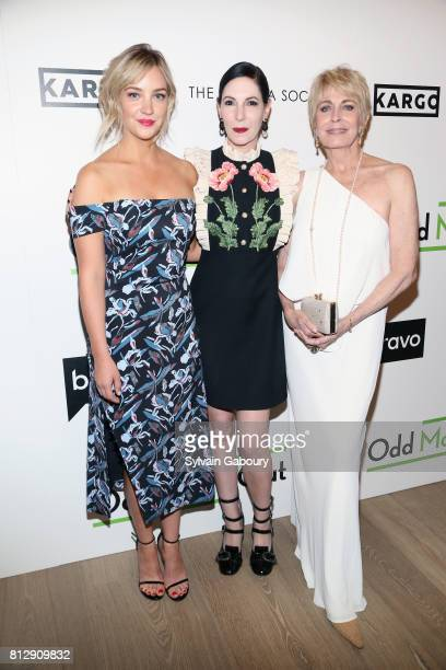 Abby Elliott Jill Kargman and Joanna Cassidy attend The Cinema Society Kargo host the Season 3 Premiere of Bravo's 'Odd Mom Out' on July 11 2017 in...