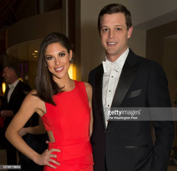 Abby Huntsman and Husband Jeffrey Livingston arrive at the Gridiron Club Dinner at the Renaissance Hotel in Washington DC on March 14 2015 The annual...