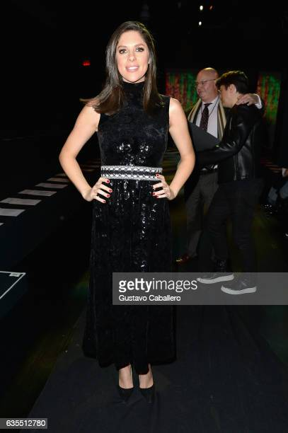 Abby Huntsman attends Vivienne Tam FW2017 Runway Show show at Gallery 1 Skylight Clarkson Sq during New York Fashion Week The Shows on February 15...