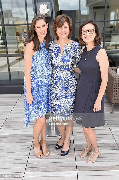 Abby Huntsman Capricia Marshall and Maria Teresa Kumar attend a luncheon hosted by Glamour and Facebook to discuss the 2016 election at Samsung 837...