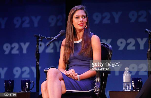 Abby Huntsman Livingston speaks at Women In Politics Panel With Chelsea Clinton hosted by Glamour magazine at 92nd Street Y on March 28 2012 in New...