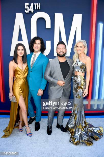 Abby Law Dan Smyers and Shay Mooney of Dan Shay and Hannah Billingsley attend the 54th Academy Of Country Music Awards at MGM Grand Garden Arena on...