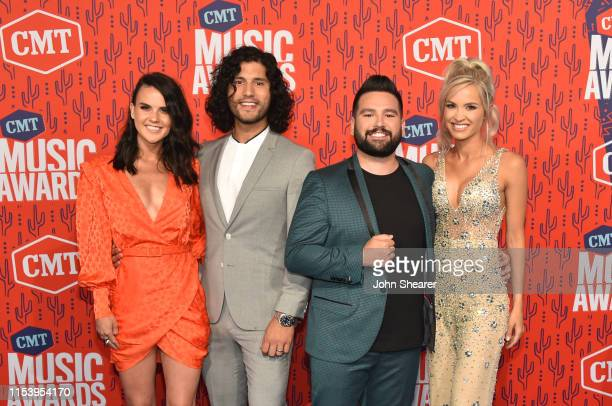 Abby Law Dan Smyers and Shay Mooney of Dan Shay and Hannah Billingsley attend the 2019 CMT Music Award at Bridgestone Arena on June 05 2019 in...