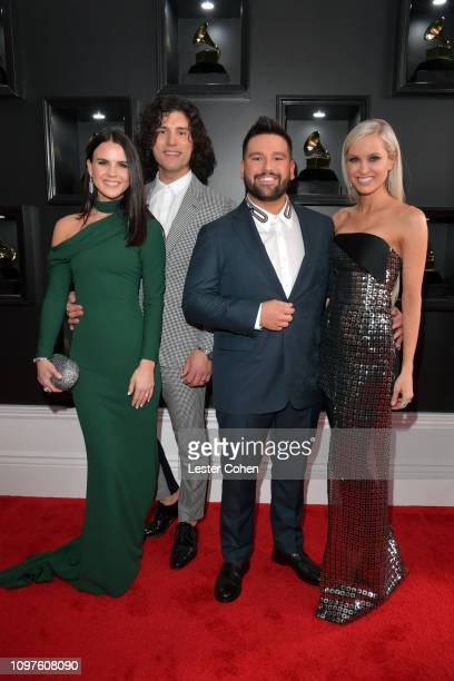 Abby Law Dan Smyers and Shay Mooney of Dan Shay and Hannah Mooney attend the 61st Annual GRAMMY Awards at Staples Center on February 10 2019 in Los...